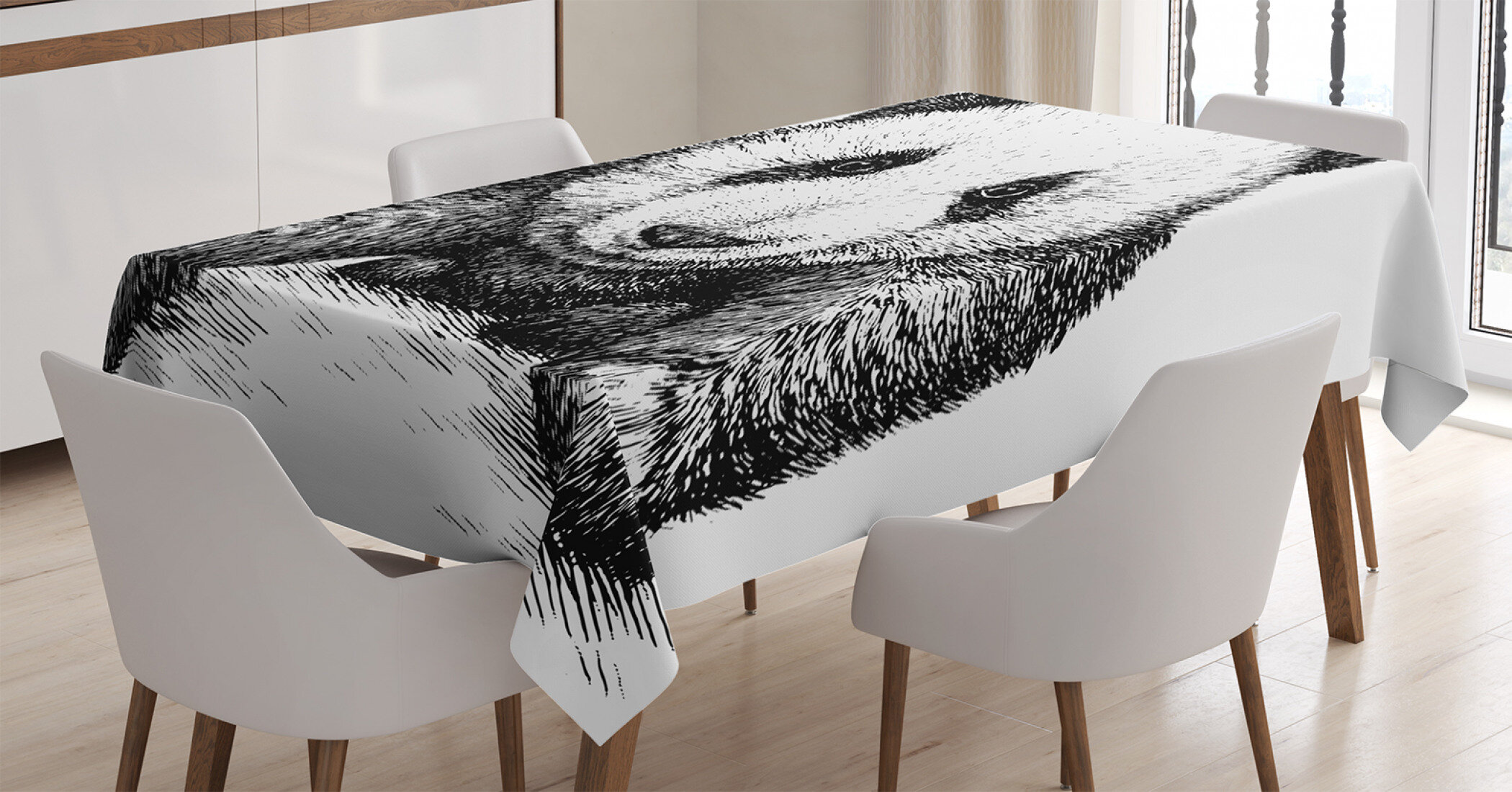 Fur Styled Table Cloth