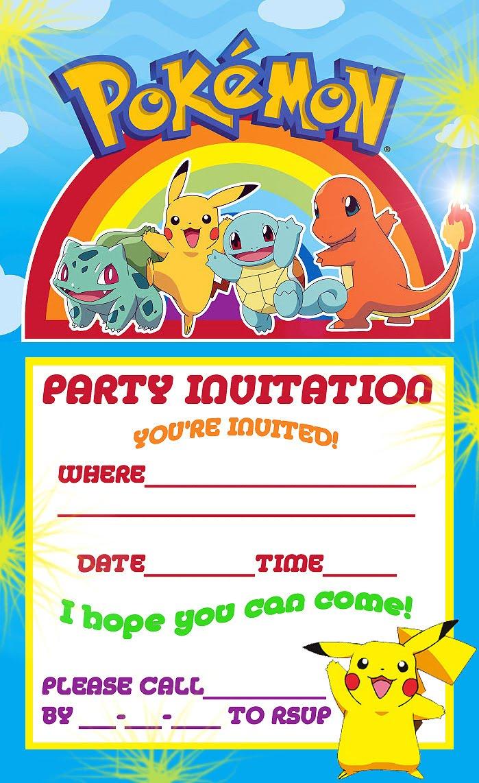 Pokemon Party Invitations Invitation