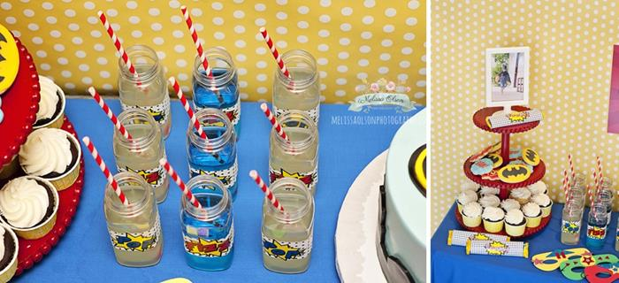 Super hero theme for a kid 39 s party for 5th birthday decoration ideas