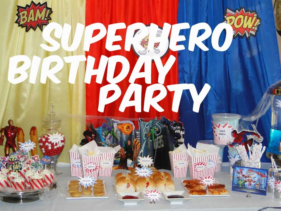 Super Hero Theme For A Kids Party