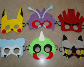 Image result for pokemon go themed party masks