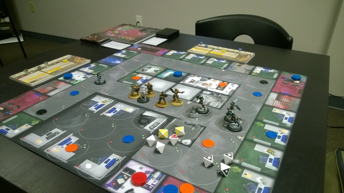 board game in office for boss's birthday party