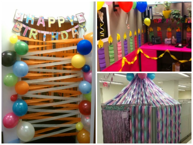 office decor for boss's birthday party