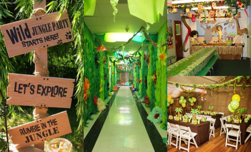 Give your li 39 l one 39 s birthday party 39 the jungle book 39 twist for Decoration jungle