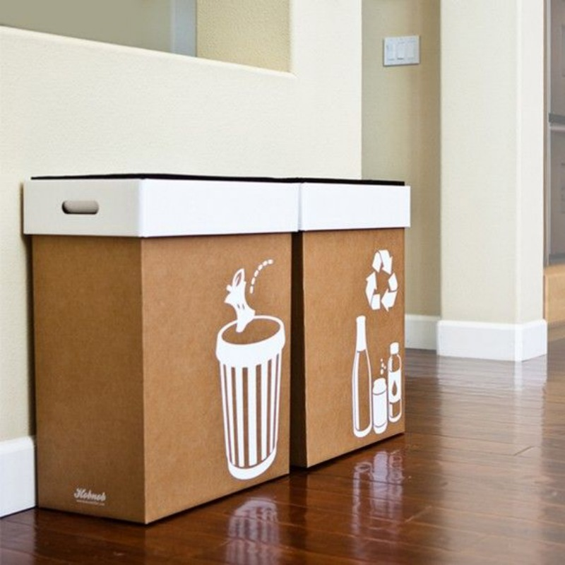 garbage bin at parties