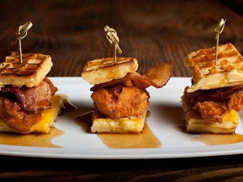 Chicken and Waffles Sliders