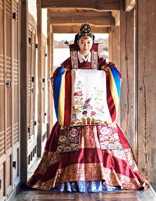Different types of bridal dresses around the world for Korean wedding dress traditional