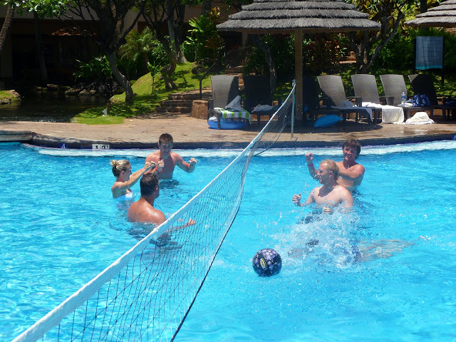 water volleyball swimming pool party games