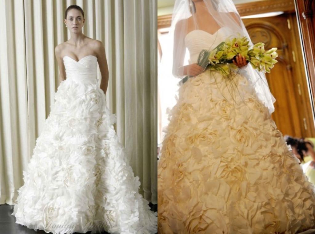 rose wedding prop bridal dress
