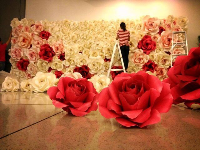 red-white-large-roses-backdrop-photo-booth-wedding