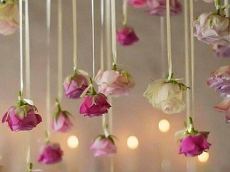 DIY sling roses wedding prop