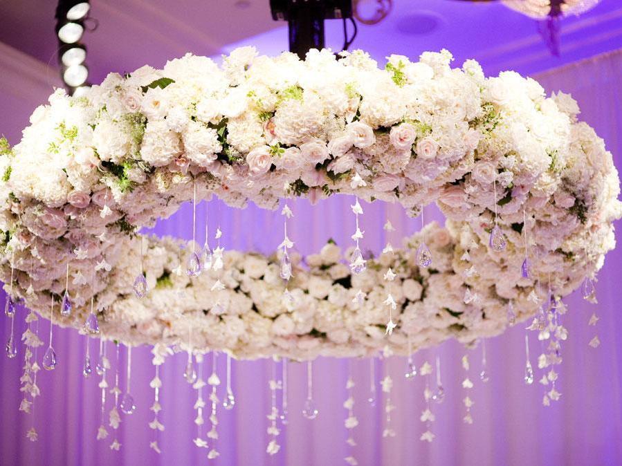 floral white rose chandelier