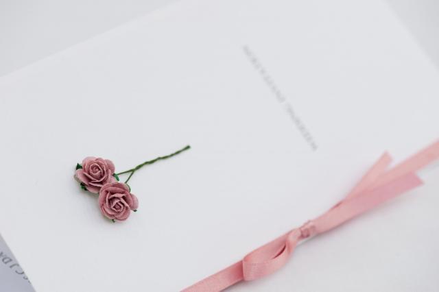 tiny rose invitation card