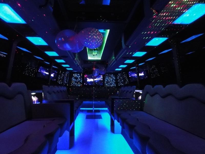 party-bus-30-pass-interior-Bachelorette party ideas