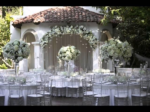 white rose wedding prop