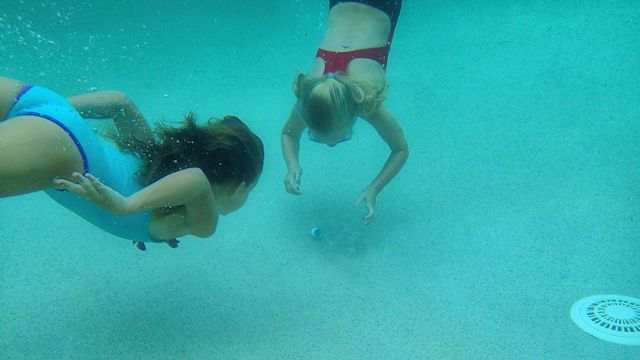 invisible bottle hunt swimming pool party games