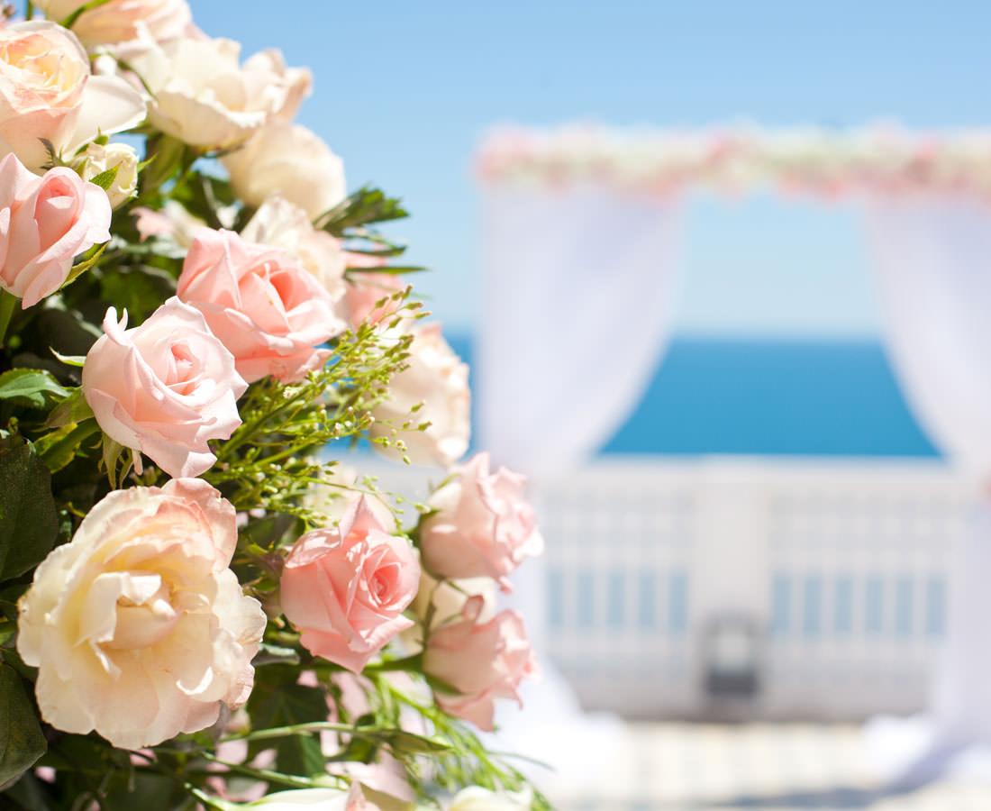 rose wedding prop