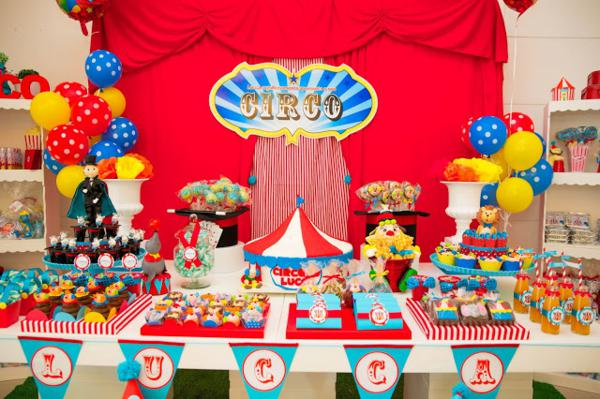 circus- get together party theme