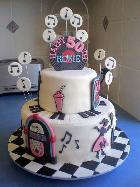 50th birthday party cake