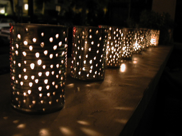 tin lanterns party lights