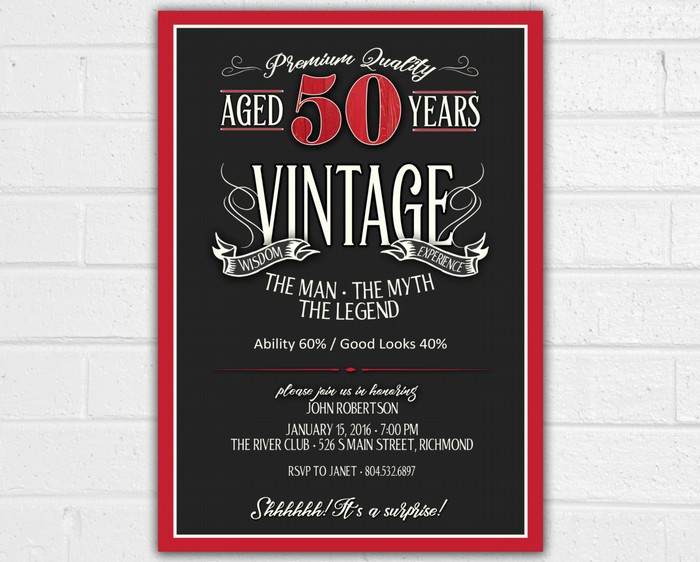 50th Birthday Party Invitation