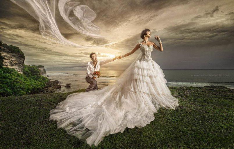 creative wedding shots