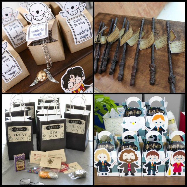 harry potter themed birthday party favours
