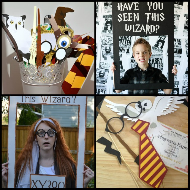 harry potter themed birthday party photo props
