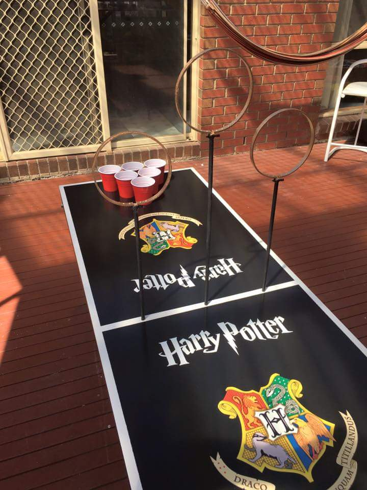 harry potter themed birthday-quidditch pong