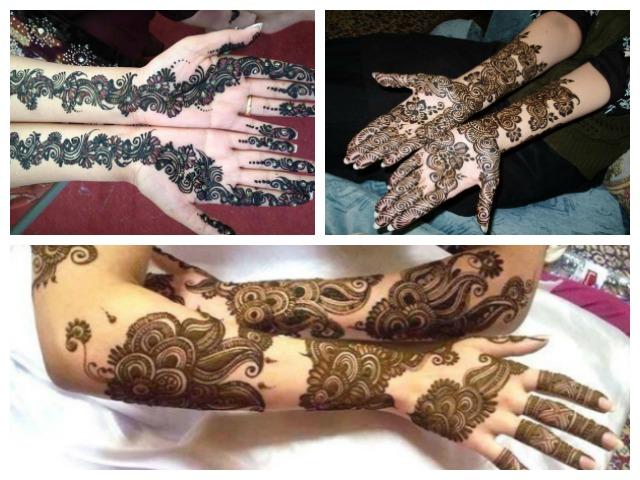 trendy bridal arabic mehndi design, Indian Bridal Mehendi Designs