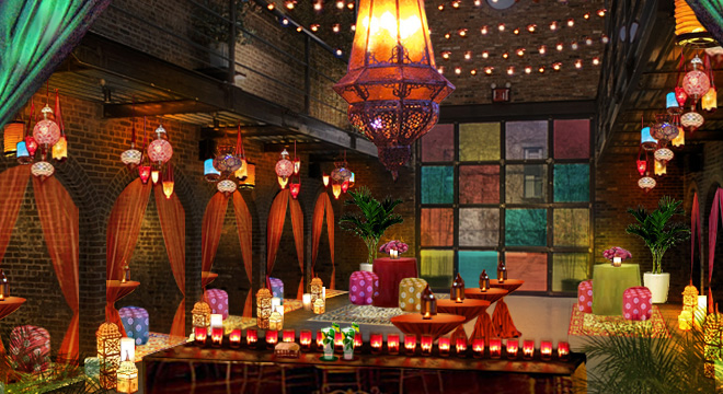 moroccan decor- cocktail party theme ideas