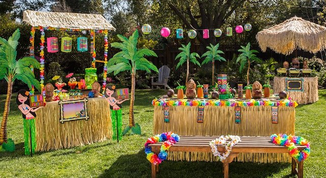 tropical decor- cocktail party theme ideas