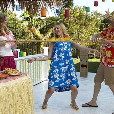 Hawaiian limbo game- tropical cocktail party theme ideas