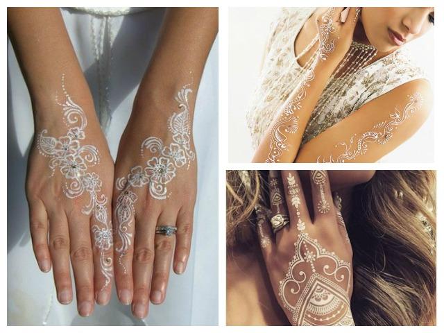trendy bridal mehndi design- white henna, mehendi dijain, White Henna-Indian Bridal Mehendi Designs
