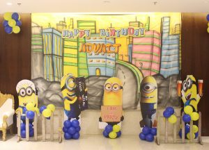 Decoration for minion theme party
