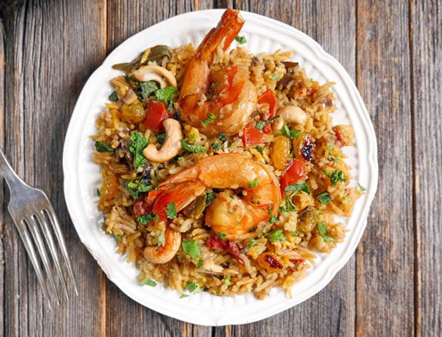 Best Indian wedding dishes main course: Shrimp Biryani