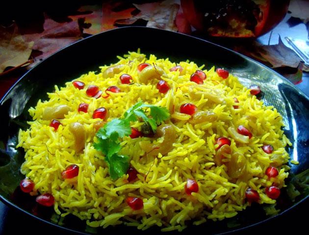 Best Indian Wedding DIshes Main Course: Zafrani Pulao