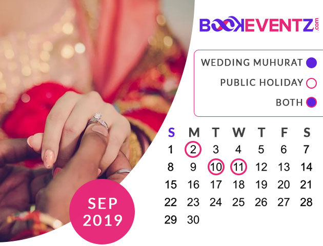 Wedding Dates in September 2019, Marriage Dates in September 2019, Marriage Dates in September 2019