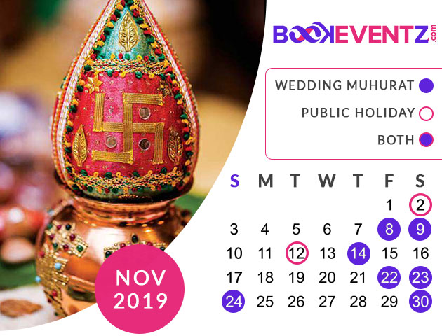 Wedding Dates in November 2019, Marriage Dates in November 2019, marriage dates in 2019, marriage muhurat in 2019, 2019 marriage dates, wedding dates in 2019, hindu calendar 2019