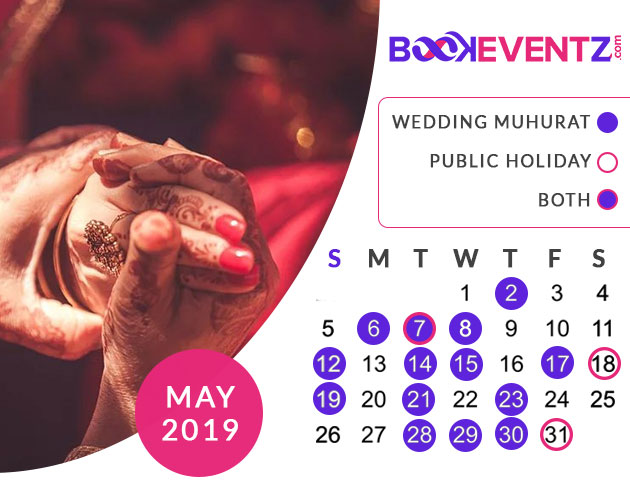 Wedding Dates in May 2019, Marriage Dates in May 2019, marriage dates in 2019, marriage muhurat in 2019, 2019 marriage dates, wedding dates in 2019, hindu calendar 2019