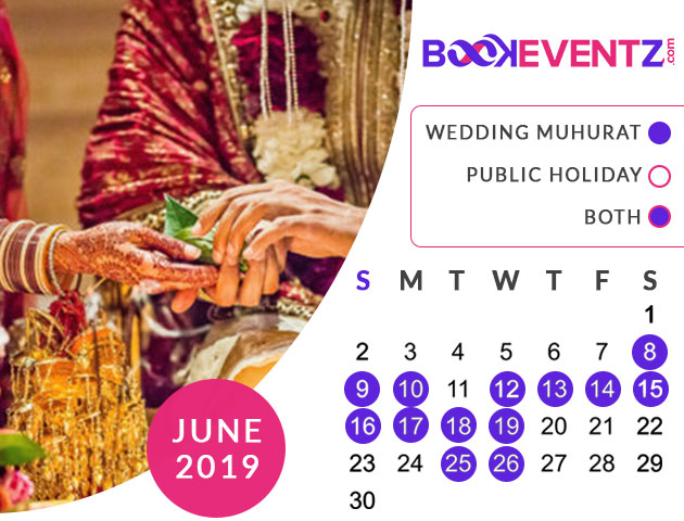 Wedding Dates in June 2019, Marriage Dates in June 2019, marriage dates in 2019, marriage muhurat in 2019, 2019 marriage dates, wedding dates in 2019, hindu calendar 2019