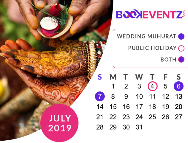Wedding Dates in July 2019, Marriage Dates in July 2019, marriage dates in 2019, marriage muhurat in 2019, 2019 marriage dates, wedding dates in 2019, hindu calendar 2019