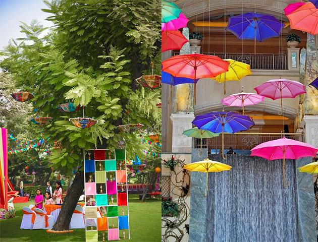 Colorful Umbrellas - Mehendi Decor