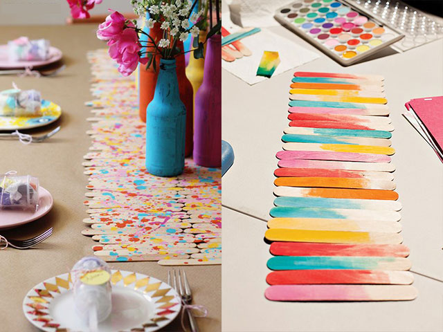 Ice Cream Stick Table Mats, themed birthday party
