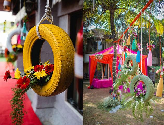Colorful Tires - Mehendi Decor