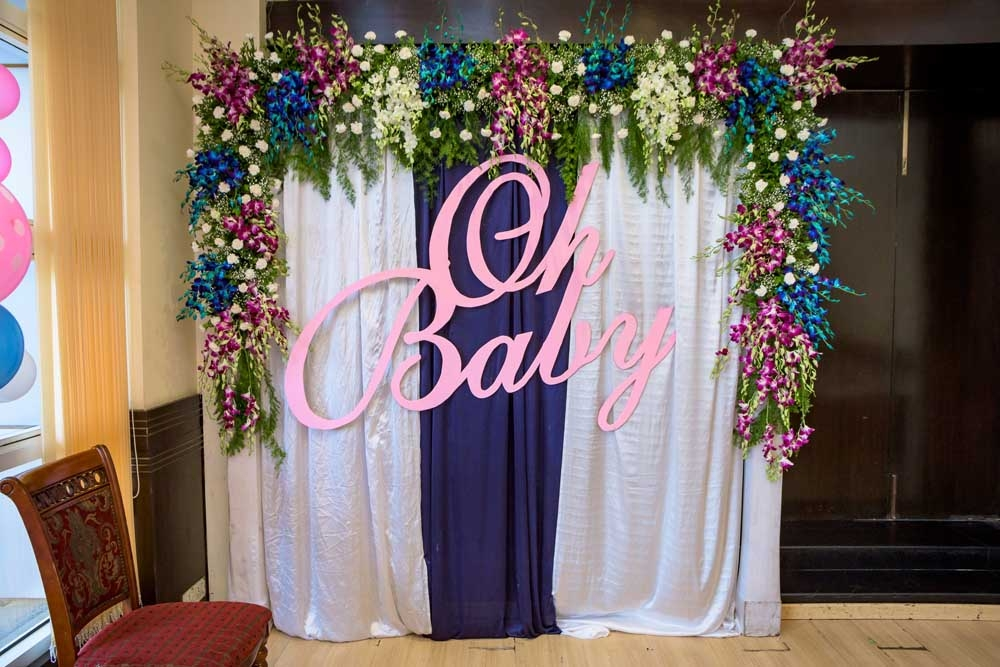 Photo booth for a Baby Shower