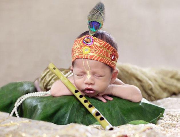 baby krishna photoshoot