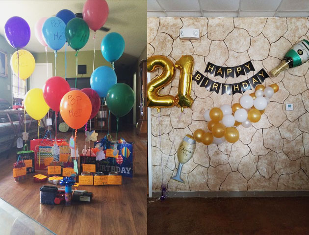 brother's or sister's birthday surprise party decor