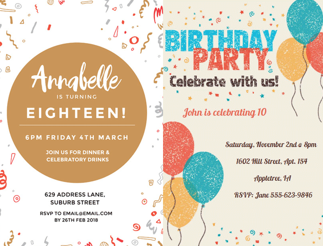 10 Whatsapp Birthday Invitation Cards Templates For You To Try