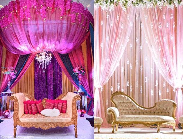 Parda hai Parda - Classic Ring Ceremony Decoration Ideas